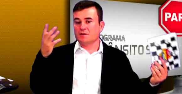 Alessandro Ferro apresenta o primeiro programa televisivo que trata das questões do trânsito